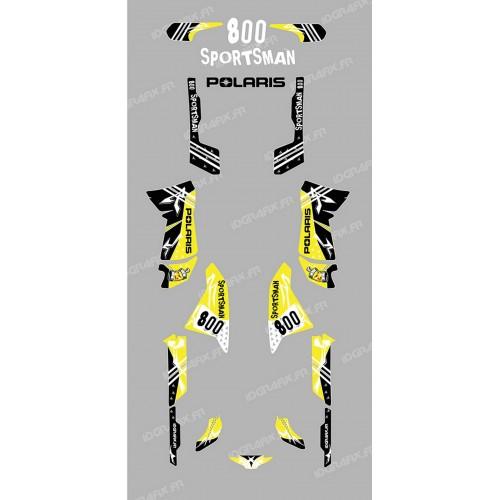 Kit de decoració Carrer Groc - IDgrafix - Polaris 800 Esportista