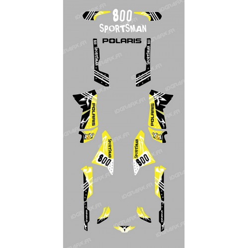 Kit de decoración de la Calle de color Amarillo - IDgrafix - Polaris 800 Deportista