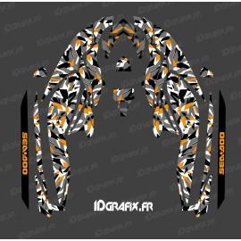Kit décoration Camo Digital Full Edition (Orange) - pour Seadoo GTI (après 2020)