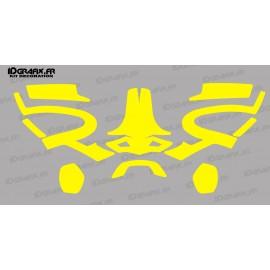 Yellow FLuo Sticker - PFANNER Protos Helmet-idgrafix