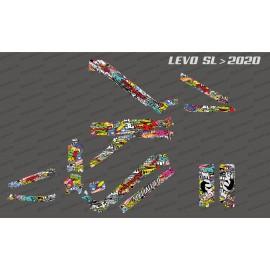Kit deco Bomb Edition completa - Levo SL especialitzat (després de 2020) -idgrafix