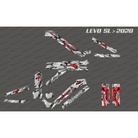Kit deco Camo Edition complet (gris / vermell) - Levo SL especialitzat (després del 2020) -idgrafix