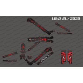 Kit deco Carbon Edition complet (vermell) - Levo SL especialitzat (després del 2020) -idgrafix