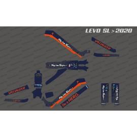 Kit deco TroyLee Edición Completa (Azul/Naranja) - Especializado Levo SL (después de 2020) -idgrafix