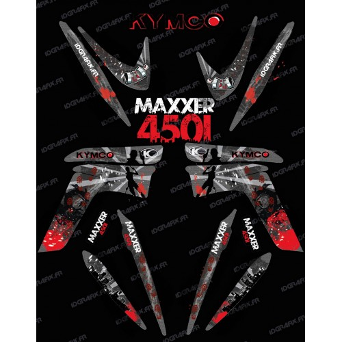 Kit decorazione Superstite di IDgrafix - Kymco Maxxer 450 -idgrafix
