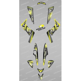 Kit décoration Tribal Jaune - IDgrafix - Kymco  250 KXR/Maxxer