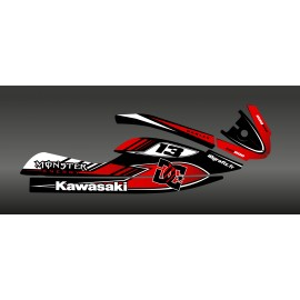 Kit de decoració 100% Perso DC Vermell per a Kawasaki SXR 800 -idgrafix