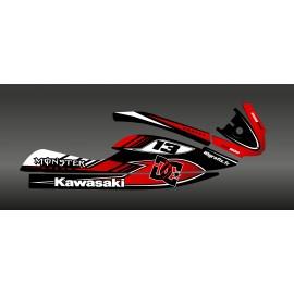Kit decoración 100% Perso DC Rojo para Kawasaki SXR 800 -idgrafix