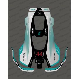 Pegatina F1 Mercedes edition-Robot de siega Husqvarna AUTOMOWER PRO 520/550 -idgrafix