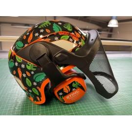 Sticker Flores edition (Green / Orange) - STIHL Helmet-idgrafix