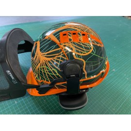 Sticker Abstract edition (Green / Orange) - STIHL Helmet-idgrafix
