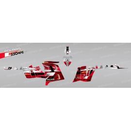 Kit de decoració Pronòstics (Vermell) - IDgrafix - Polaris 550 XPS