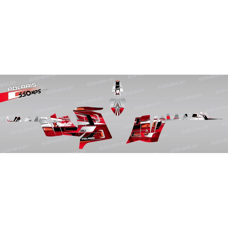 Kit décoration Pics (Rouge) - IDgrafix - Polaris 550 XPS -idgrafix