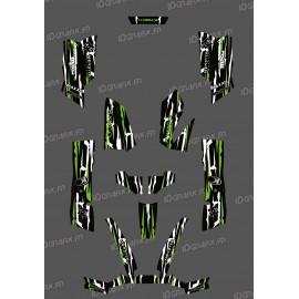 Kit Deco Perso Monster Edition Verd / Blanc - Kymco 550/700 MXU -idgrafix