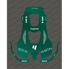 Sticker F1 Aston Martin edition - Husqvarna AUTOMOWER PRO 520/550 robot mower-idgrafix