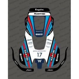 Sticker F1 Martini edition - Husqvarna AUTOMOWER PRO 520/550 robot mower-idgrafix
