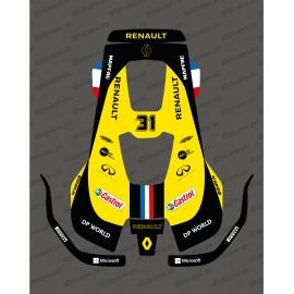 Sticker F1 Renault edition - Husqvarna AUTOMOWER PRO 520/550 robot mower-idgrafix