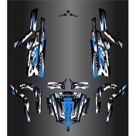 Kit décoration Monster Edition FULL (Blanc/Bleu) - Idgrafix - CF Moto ZForce