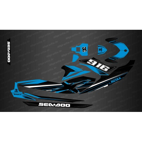 Kit decoration Factory Edition (Blue) - for Seadoo GTI (after 2020)-idgrafix