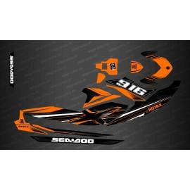 Kit decorazione Factory Edition (Arancione) - per Seadoo GTI (dopo il 2020) -idgrafix