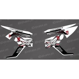 Kit decoració Monster Series - Lat parcial (vermell / blanc) - IDgrafix - Can Am Renegade -idgrafix