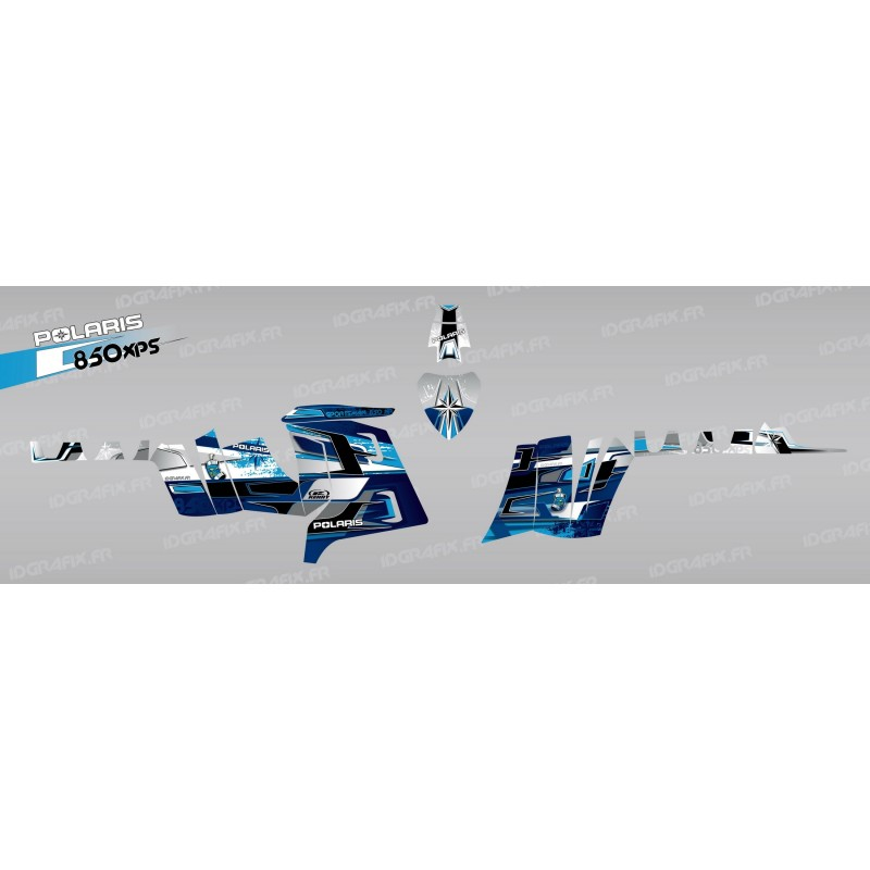 Kit dekor-Peaks (Blau) - IDgrafix - Polaris 850 /1000 XPS -idgrafix