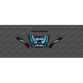 Kit de decoración Limitado Can Am (Azul) - tronco original Delantero + Trasero de BRP -idgrafix