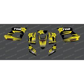 Kit deco Rockstar Edition (Giallo) - TGB BLADE (400/425/450/460/550) -idgrafix