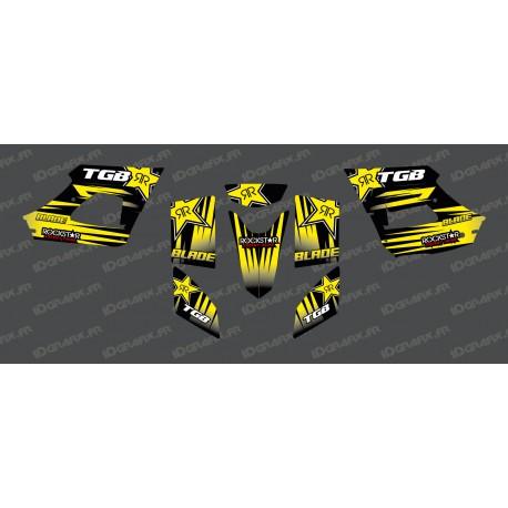 Kit deco Rockstar Edition (Yellow) - TGB BLADE (400/425/450/460/550) - IDgrafix