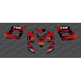 Kit deco Rockstar Edition (vermell) - TGB BLADE (400/425/450/460/550) -idgrafix