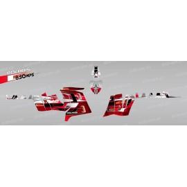 Kit de decoració Pronòstics (Vermell) - IDgrafix - Polaris 850 /1000 XPS