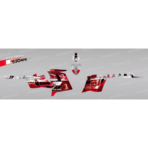 Kit dekor Peaks (Rot) - IDgrafix - Polaris 850 /1000 XPS