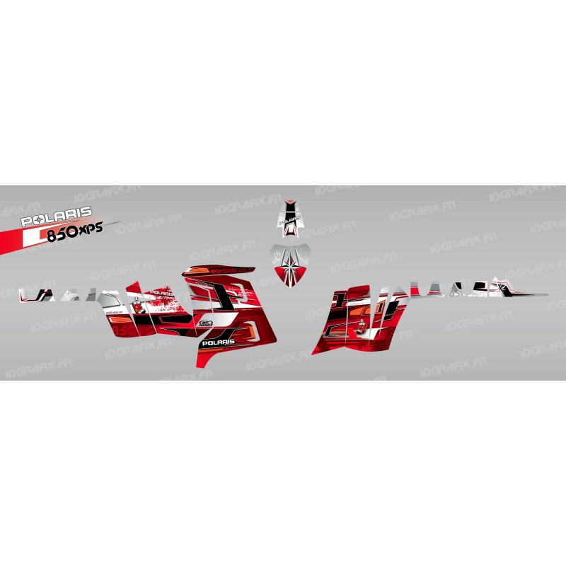 Kit dekor Peaks (Rot) - IDgrafix - Polaris 850 /1000 XPS -idgrafix