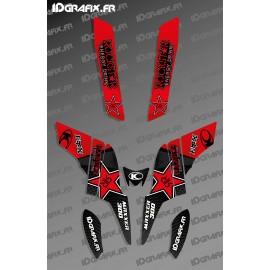 Rockstar Edition Graphic Kit (Red) - Kymco 300 Maxxer - IDgrafix