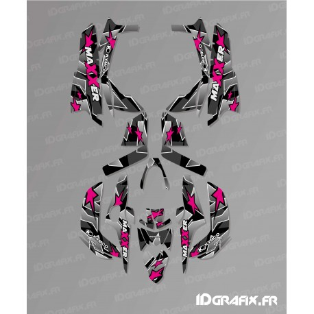 Star Edition Graphic Kit (Pink) - Kymco 300 Maxxer (after 2020)-idgrafix