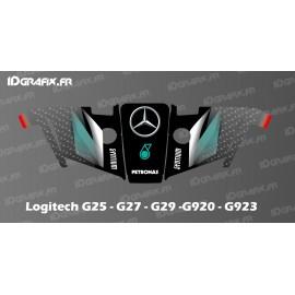 Mercedes F1 Edition Aufkleber - Logitech Simulator Lenkrad G25-27-29-920-923