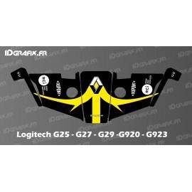 Renault F1 Edition Aufkleber - Logitech Simulator Lenkrad G25-27-29-920-923