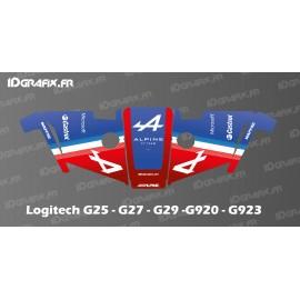 Etiqueta Alpine F1 Edition: volant del simulador Logitech G25-27-29-920-923 -idgrafix