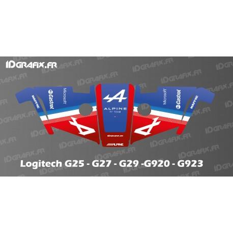 Alpine F1 Edition Decal - Logitech Simulator Steering Wheel G25-27-29-920-923-idgrafix