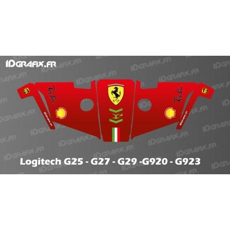 Scuderia F1 Edition Decal - Logitech Simulator Steering Wheel G25-27-29-920-923-idgrafix