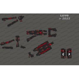 Kit deco Carbon Edition complet (vermell) - Levo especialitzat (després del 2022) -idgrafix