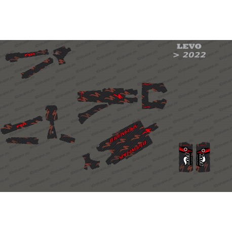Kit deco Carbon Edition Full (Red) - Specialized Levo (after 2022)-idgrafix