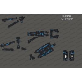 Kit deco Carbon Edition complet (blau) - Levo especialitzat (després del 2022) -idgrafix