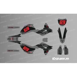 Kit dekor CRF Factory (Schwarz / Grau) - Honda CR / CRF 125-250-450