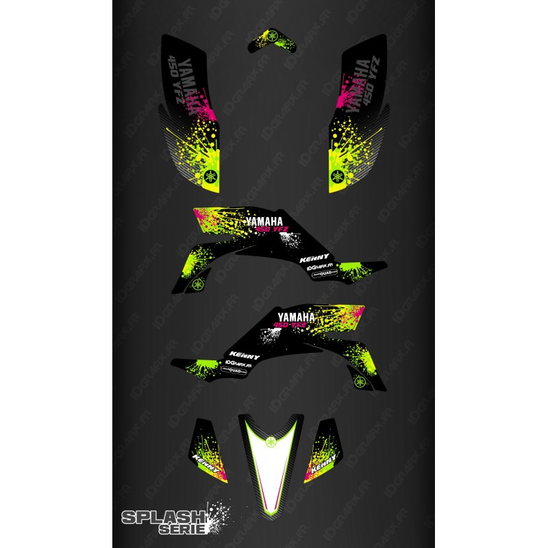 Kit decorazione Splash serie (Nero) - IDgrafix - Yamaha YFZ 450 / YFZ 450R -idgrafix