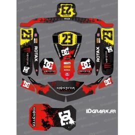 Kit déco Monster Edition (Rouge) pour Karting KG FP7