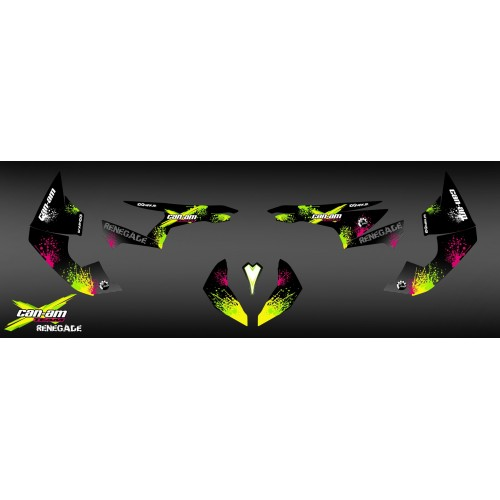 Kit decoration Yellow Splash Series - IDgrafix - Can Am Renegade-idgrafix