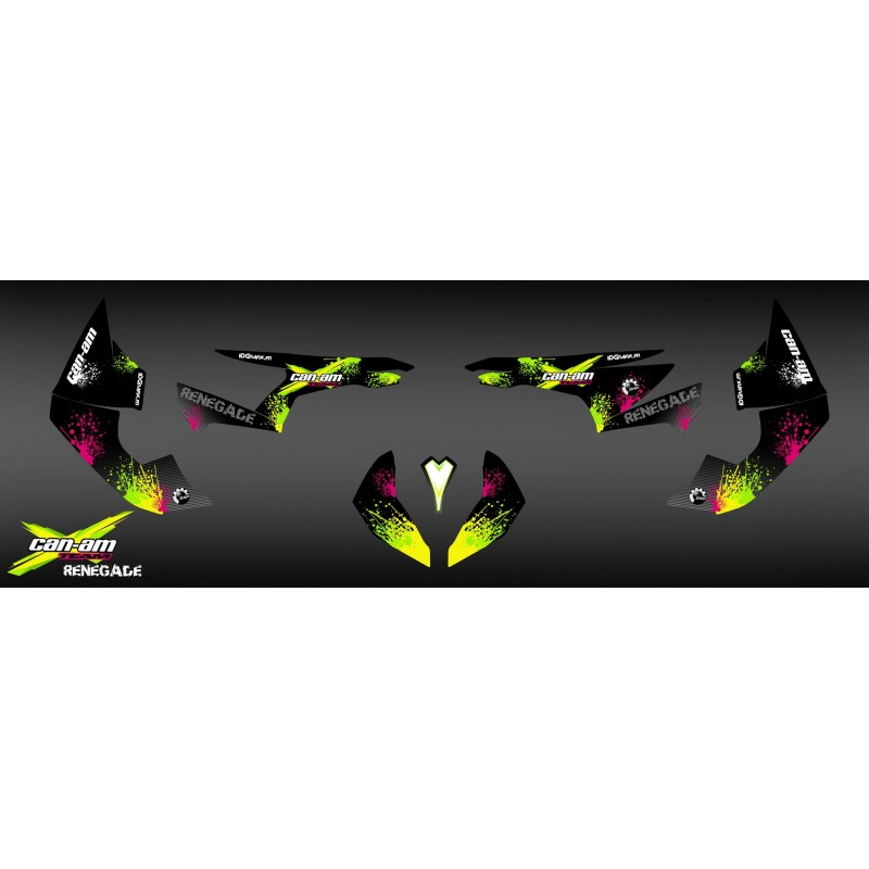 Kit decoration Yellow Splash Series - IDgrafix - Can Am Renegade - IDgrafix