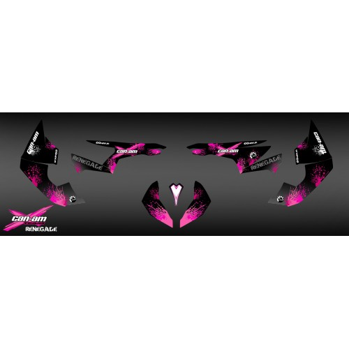 Kit decoration Pink Splash Series - IDgrafix - Can Am Renegade-idgrafix