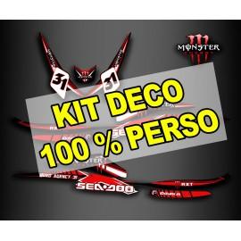 Kit de decoració 100 % personalitzat per Seadoo RXT 260 (S3 buc)